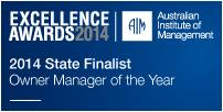 Simon Smith Owner Manager of the Year 2014 NSW_ACT State Finalist AIM Excellence Awards